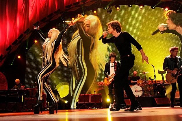 Lady Gaga and Mick Jagger