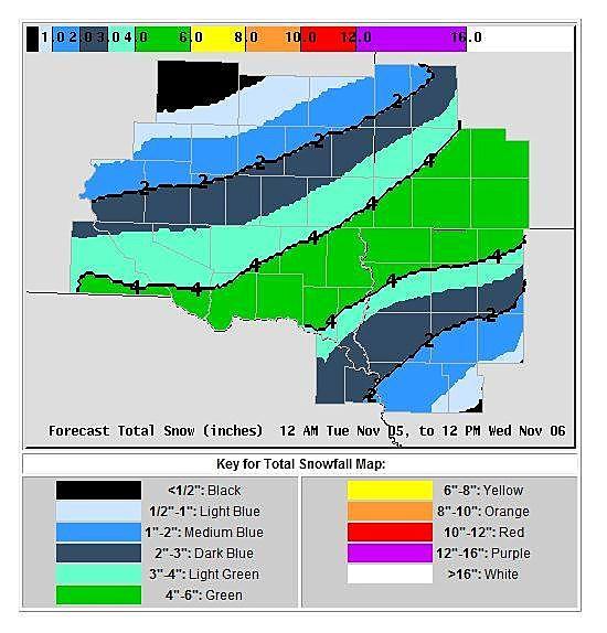 snow forecast 11-5-13