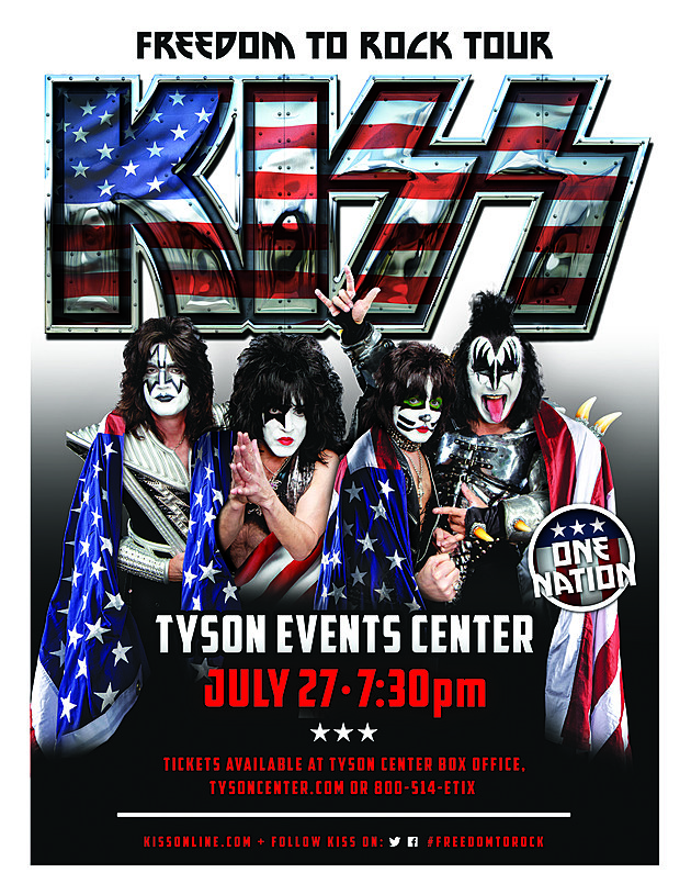 attendance of kiss freedom to rock tour