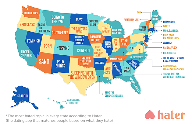 What each state hates